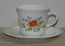 2 Retired Corelle Wildflower Cup and Saucer Sets  - $7.50