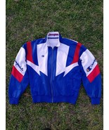 Vintage 90s Champion Embroidery Logo SpellOut Sweater Jacket Colourfull ... - $110.00