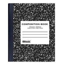 W/R 100 Ct. Black Marble Composition Book - $2.50