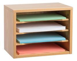"Adiroffice Medium Oak Wood Desk Organizer Workspace Organizers 11"" X 14""... - $44.95"