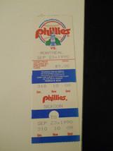 1990 Philadelphia Phillies vs. Montreal Expos Ticket Stub (SKU1) - $9.49