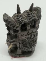 Vtg Thai Teakwood Hand Carved Etched Wood Elephant Figurine India Far Ea... - $24.18