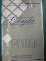 1987 CHRYSLER NEW YORKER  OWNERS OPERATORS MANUAL - $7.91