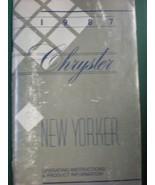 1987 CHRYSLER NEW YORKER  OWNERS OPERATORS MANUAL - £20.51 GBP