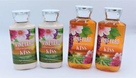 Set of 4 Bath & Body Works Vineyard Champagne Kiss Shower Gel Body Wash ... - $39.99
