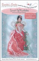 Spirit of Mistletoe Angel Ornament Chart only cross stitch Brooke's Books  - $7.20