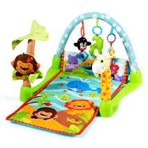 4-in-1 Baby Play Gym Mat with 3 Hanging Educational Toys - $67.90
