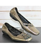 Cole Haan Size 7.5 AA AIR Slip On Loafers Ballet Flats Leather Tassel - $28.49
