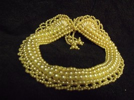 Vintage 40'S Silk And Faux Baroque Pearls Japan Choker - $19.80
