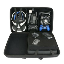 Hard Travel Case Sony PlayStation 4 Pro Console VR PSVR Launch Water Res... - $110.42