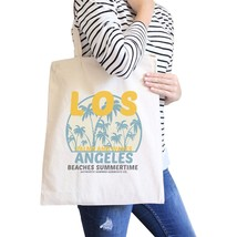 Los Angeles Beaches Summertime Natural Canvas Bags - $15.99