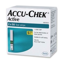 Accu Chek Active 1 Code Chip 100 Test Strips 1 Boxes 100  SS - $27.32