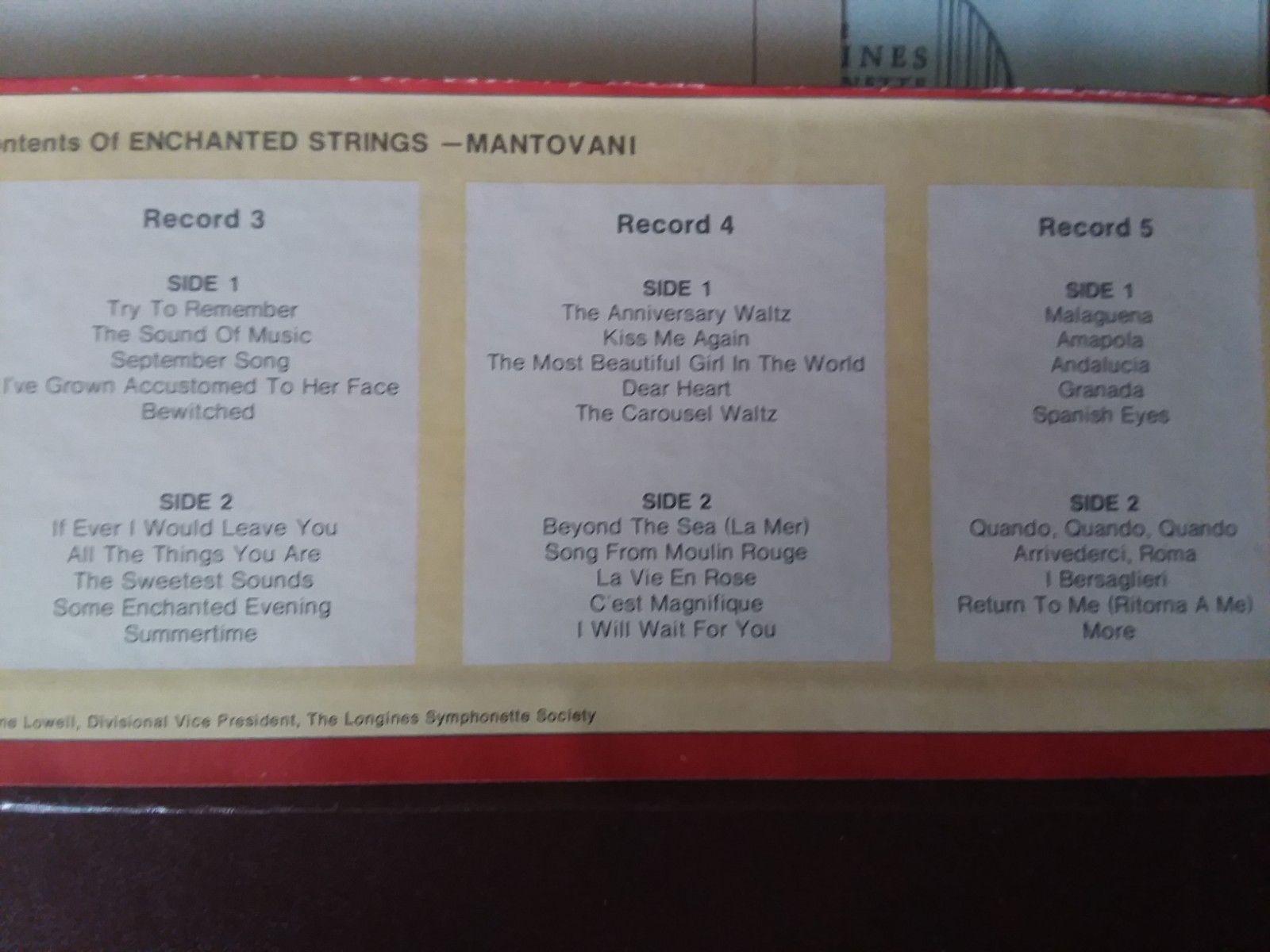 Set of 5 Vinyl Records Mantovani Enchanted and 50 similar items