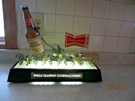 BACK BAR VINTAGE COLLECTIBLE,BUDWEISER WORLD CHAMPION CLYDESDALE HORSES ... - $117.56