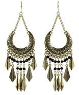 Amrita Singh Antique Gold Cannes Dangle Bohemian Earrings ERC 7025 NWT - $21.29