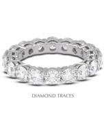 5.41ctw F-VS2 Ideal Cut Round Genuine Diamonds 14k Gold Basket Eternity ... - $5,748.82