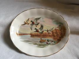 Vintage GRINDLEY ENGLAND Flying Duck Oval Ceramic SERVING PLATTER PLATE - $16.59