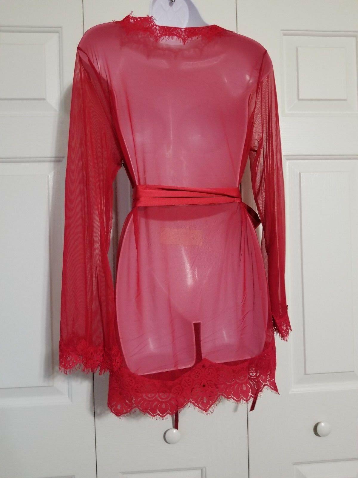 Fashion Nova New Lover Robe Red Size 1X/2X NWT