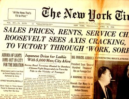 The New York Times , Wednesday, April 29,1942  - $4.00