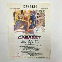 Cabaret 1966 Sheet Music John Kander Sunbeam Music - $12.73