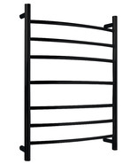 Gown 7-Bar Stainless Steel Wall Mounted Towel Warmer in Matte Black - $349.99