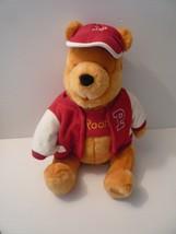 "Winnie the Pooh Bear Varsity Jacket w/ Cap Plush 12"" Original Disney Sto... - $24.75"