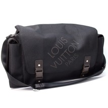 AUTHENTIC LOUIS VUITTON Damier Geant Belier Shoulder Duffle Bag Black M9... - $1,100.00
