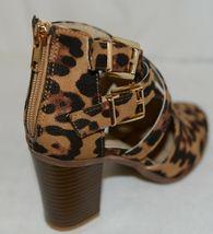 Bella Marie Vermont 61 Leopard Suede Double Buckle Plus Zipper Size 6 image 8