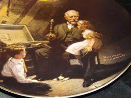 """Grandpa's Treasure Chest"" by Norman Rockwell Decorative Plate AA19-1668 Vinta image 6"