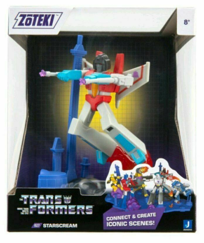 "2021 Jazwares Zoteki Transformers Starscream Diorama 6"" Action Figure NEW SEALED"