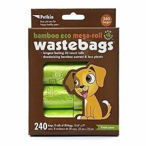 PetKin Bamboo Eco MegaRoll 240 count Waste Bags - $8.29