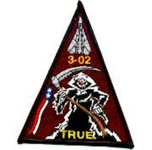 "4.5"" NAVY VF-101 F-14 CLASS 03-02 GRIM REAPERS EMBROIDERED JACKET PATCH - $18.99"