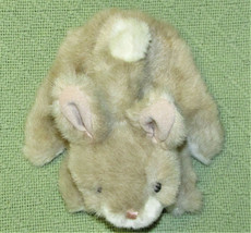 "FOLKMANIS BABY BUNNY RABBIT PUPPET FULL BODY PLUSH 8"" TAN WHITE HAND PUP... - $14.85"