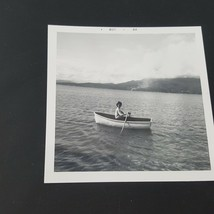 Vintage Photo Beautiful Woman In Row Boat - $2.48