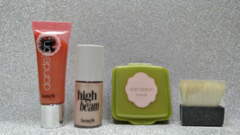 Benefit Dandelion Ultra Plush Lipgloss, Face Powder & High Beam Highligh... - $19.95