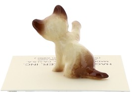 Hagen-Renaker Miniature Cat Figurine Siamese Kitten Paw Up Chocolate Point image 3
