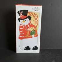 Fitz and Floyd Sugar Coated Christmas Elongated Tray 2008 Snowman 19/585 Macy's - $22.99