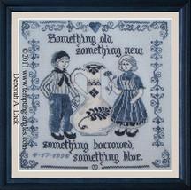 Delft Wedding Sampler cross stitch chart Tempting Tangles  - $12.60
