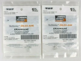 Lot 4x Schluter Systems ER/AHKA/AE DILEX-AHK Right Side Aluminum End Cap SEALED image 2