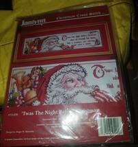 "Janlynn 'Twas The Night Before Christmas Cross Stitch [24""×6""] New - $24.70"