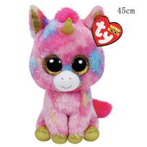 "Ty Beanie Boos Fantasia The Pink Unicorn Plush Toy Doll Animal Large 18""... - $48.30"