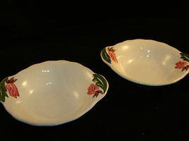 Continental Kilns GREEN ARBOR Handled Chowder Soup Bowl  lot of 2 - $9.99