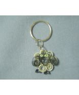 Paper Quill Handcrafted Green Eyed Sheep Keychain Keyring - $12.99