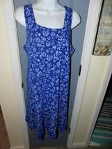 Fresh Produce Blue Floral Print Square Neck Dress Size S Women's EUC - $30.40