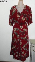 LAURA SCOTT Sz 22W Flowered Maroon Burgundy Skirt and Blouse NWOT - $16.99
