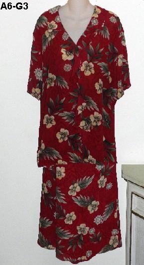 LAURA SCOTT Sz 22W Flowered Maroon Burgundy Skirt and Blouse NWOT