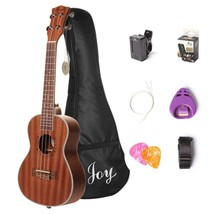 Guitars Joy Joy312 Concert Sapele Ukulele Bag Strap Digital Tuner Picks Set - $71.80