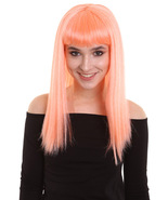 Women's Floresent Pink Color Straight Shoulder Length Trendy Dreamcicle Wig - $15.85