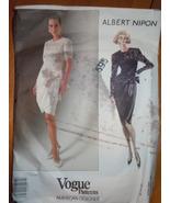 Vogue Albert Nipon Design Misses Size 12-16 Coat #2492  1990 - $9.99