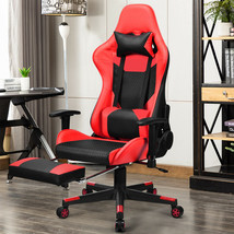Massage Gaming Chair Reclining Racing Office Chair-Red - $198.95